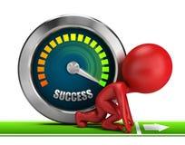 3d kleine mensen - door:sturen aan succes stock illustratie