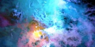 3D kleuren de rook geeft terug Stock Afbeelding