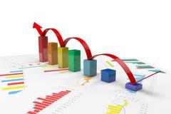 3d kleuren positieve Grafieken Royalty-vrije Stock Afbeeldingen