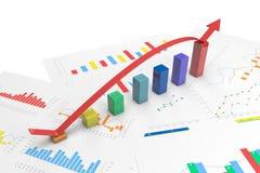 3d kleuren positieve Grafieken Royalty-vrije Stock Foto's