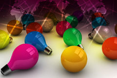3d kleurenbollen Stock Afbeeldingen