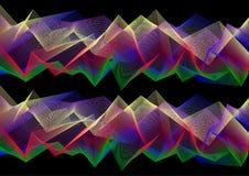 3D kleurrijk Abstract Mesh Background met vele Lijnen Royalty-vrije Illustratie