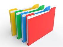 3d kleurrijke dossieromslagen Stock Afbeelding