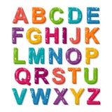 3D kleurrijke stijl van de alfabet grunge doopvont Royalty-vrije Stock Foto's