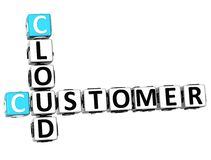 3D klienta chmury Crossword Fotografia Royalty Free