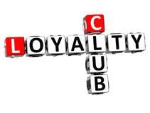 3D klubu lojalności Crossword Obraz Royalty Free
