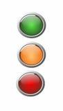 3D knöpft grün, Orange und Rot Stockfotografie