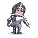 3d Knight in armour leans to the left Stock Photo