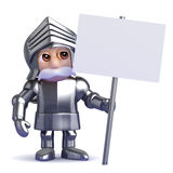3d Knight has a placard Royalty Free Stock Images