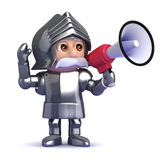 3d Knight loudhailer Royalty Free Stock Images