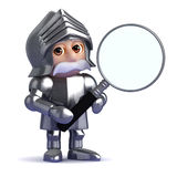 3d Knight magnifies Stock Photos