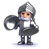 3d Knight silver service Royalty Free Stock Images