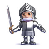 3d Knight with sword drawn Stock Photo