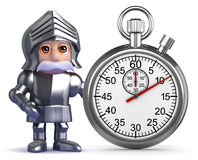 3d Knight times the event Stock Photography