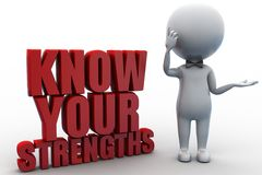 3d know your Strengths Royalty Free Stock Images