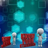 3d know your Strengths illustration Stock Photography