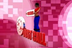 3D kobiet centrum telefonicznego ilustracja Zdjęcia Stock