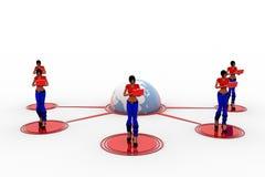 3d kobiet laptopu Wifi przeniesienie Zdjęcie Royalty Free