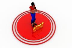 3d kobiet mic quizu pojęcie Zdjęcia Stock