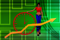 3d kobiet przyrosta ilustracja Zdjęcia Stock