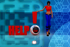 3D kobiety pomocy ilustration Obrazy Stock