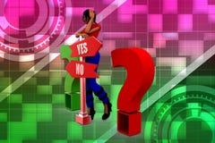 3D kobiety pytania odpowiedzi ilustracja Fotografia Royalty Free