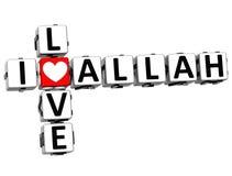3D Kocham Allah Crossword Obrazy Royalty Free