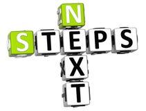3D kolejnych kroków Crossword Zdjęcie Stock