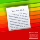3d kolorowy falcówek ilustraci papier odpłaca się Fotografia Royalty Free