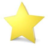 3D koloru żółtego gwiazda Zdjęcie Royalty Free