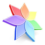 3d koloru kwiatu koło Obraz Stock