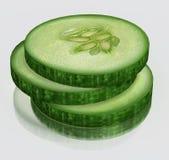3d Komkommer Royalty-vrije Stock Foto's