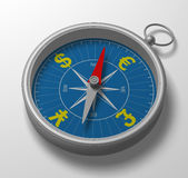 3D kompas Royalty-vrije Stock Afbeelding