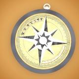 3d kompas z ilość teksta wypustowym pojęciem Obraz Royalty Free