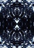 3d komputer wytwarzał artystycznego unikalnego nowożytnego technologicznego fractals projekt na czarnym tle ilustracji