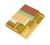 3D komputer wytwarzał wizerunek drewniany otoczka domu podłoga budowy szczegół Fotografia Royalty Free