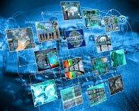 3d komunikacja odizolowywająca sieć odpłaca się biel Fotografia Royalty Free