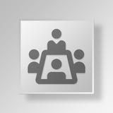 3D Konferenzzimmer Knopf-Ikonen-Konzept Stockfotos