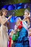 D.Konovalova en Schoonheid van Rusland 2011 N.Pereverzeva Royalty-vrije Stock Afbeelding