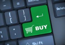 3d koop toetsenbordconcept Royalty-vrije Stock Foto