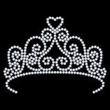 3D korony ilustracyjna diamentowa tiara z błyskotliwym cennym sto Zdjęcia Royalty Free