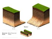 3D krajobrazu bloku trawa Zdjęcia Stock