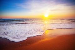 3 d krajobrazu panoramy morza słońca Zdjęcie Stock