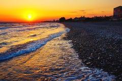 3 d krajobrazu panoramy morza słońca Obraz Royalty Free