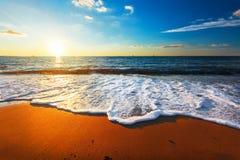 3 d krajobrazu panoramy morza słońca Obrazy Stock