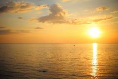3 d krajobrazu panoramy morza słońca Fotografia Stock
