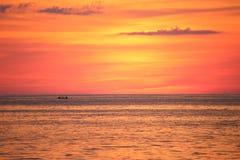 3 d krajobrazu panoramy morza słońca Fotografia Royalty Free