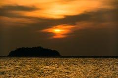 3 d krajobrazu panoramy morza słońca składu projekta elementu natury raj Zdjęcia Royalty Free