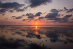 3 d krajobrazu panoramy morza słońca składu projekta elementu natury raj Obraz Royalty Free