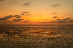 3 d krajobrazu panoramy morza słońca składu projekta elementu natury raj Obrazy Royalty Free